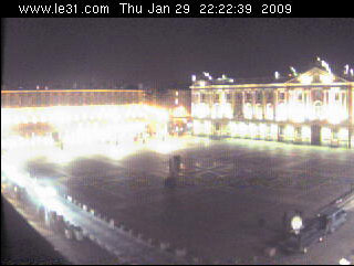 La webcam de la Place du Capitole de Toulouse