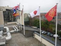 Hôtel Palladia à Toulouse : drapeaux